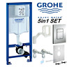 GROHE RAPID SL CONCEALED WALL HUNG TOILET WC FRAME SKATE COSMOPOLITAN CHROME MAT
