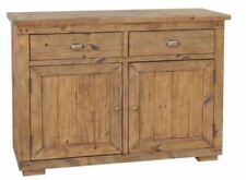 New Chunky Reclaimed Weathered Wood 2 Door 2 Drawer Sideboard *Furniture Store*