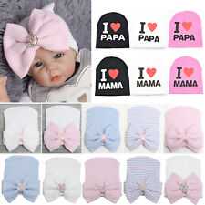 Baby Boy Girl Newborn Infant Cotton Cute Hat Cap Knitted Outdoor Hospital Beanie