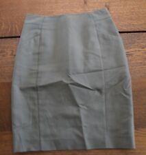 H&M - Olive Mini Skirt, Size 2 Career Women's Work Sexy Suit