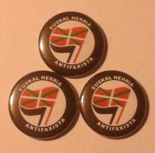 1x Euskal Herria Antifaxista Button Antifa Punk ETA Euskadi Euskal RASH GNWP AFA
