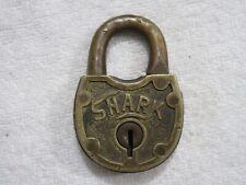 vintage brass Shark lock no key lot C