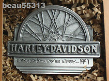 """NEW"" HARLEY DAVIDSON 1997 DAYTONA LIMITED # 377 of 3000 FINE PEWTER BELT BUCKLE"
