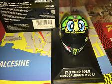 "Minichamps Valentino Rossi Agv Helmet 1/8 - GP Mugello 2013 ""tartaruga"" Yamaha"