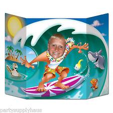 LUAU Ocean Wave SURFER DUDE stand-up PHOTO PROP Beach Party Decoration