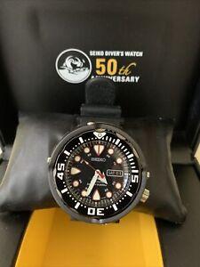 Seiko Prospex Baby Tuna Automatic Diver's 200M Men's Black Watch - SRP655