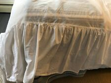 Laura Ashley Home White Cotton Twin Bed Skirt