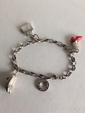 Sterling Silver Thomas Sabo Bracelet With 3 Charms