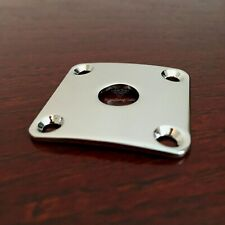 "1  Modern Vintage Guitar BENT Square 1/4"" Jack Mounting Plate Nickel"
