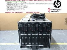 HP C7000 HP BL460c Gen8 v2 80-Cores 1TB RAM D2200sb 28.8TB SAS Blade Solution