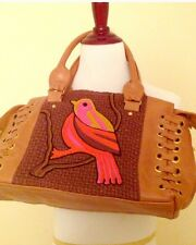 Anthropologie Lucky Penny Sentinel Bird Satchel;; Camel Tan Color New