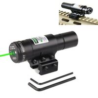 Tactical Green Laser Dot Sight Compact Picatinny Rail Mount 20mm for Rifle