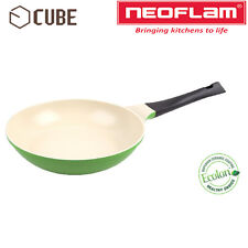 [NEOFLAM] ECOLON Coating Cube 24cm Fry Pan Leaf Green Non-stick Natural Coating