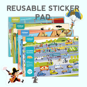 Children Activity Reusable Sticker Book Pad FREE POSTAGE WITH TRACKING