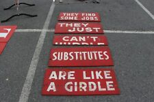 Old Burma Shave Signs set.see my other porcelain neon sign Ford, Chevrolet Olds