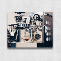 Machine à café Pimplate métal 35x28cm Cadeau salon bar maison restaurant cuisine