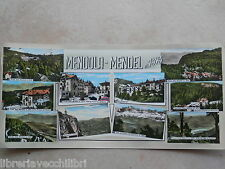 aa Vecchia cartolina foto d epoca di MENDOLA STRADA ALBERGHI PASSO FUNICOLARE