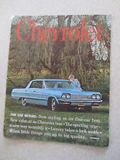 Original 1964 Chevrolet cars advertising booklet - Impala Bel Air Biscayne