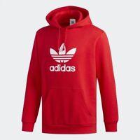 Men Adidas Originals Trefoil Pullover Hoodie Collegiate Red [z] DU7779