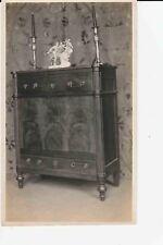 Antique Original Louis XVI Walnut Commode Lift Top Root Panel c1915 Photograph