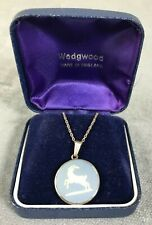 Wedgwood Sterling Silver Capricorn Cameo Necklace in Gift Box - 5g