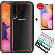 For Samsung Galaxy A20S case Ultra Slim Hybrid Rugged Cover +HD Screen Protector