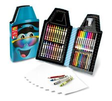Crayola Tip Case Art Kit Turquoise 50+ Piece Crayons Pencils Markers Kids School