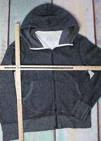 Wings + Horns Men's Hooded Full Zip Sweatshirt Grey M
