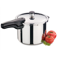 Pressure Cooker Stainless Steel 6 Quart Compatible Kitchen Pot Dishwasher Safe