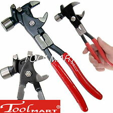 6 in 1 Multi plier tool Pipe wrench nail puller wire cutter hammer solid steel