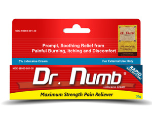 Dr Numb 5% Cream 30 gr Skin Numbing for Body Ink, Waxing Piercing Same Day Ship!