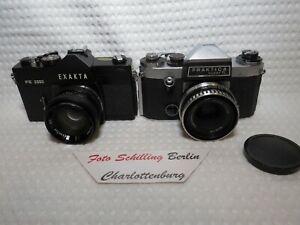 Exakta FE 2000 mit Exaktar EE 1,7/50mm M42 & Praktica Super TL mit Tessar 2,8/50