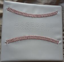 Baseball Collectors Album with 25 pages filled with cards from early 2010s