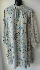 ANNA GLOVER H&M OVERSIZED OYSTER FLORAL FLOATY DRESS SIZE XS 10 12 (TU51)