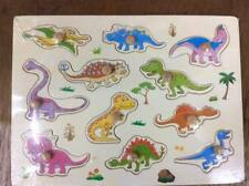 Party : Dinosaur Wooden Peg Puzzle Educational Toy Gift  jl1