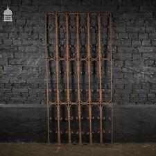 Tall 19th C Blacksmith made Wrought Iron Railing Panel