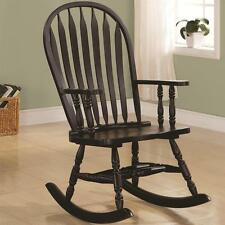 Transitional Wood Rocking Chair in a Cappuccino Finish by Coaster 600186