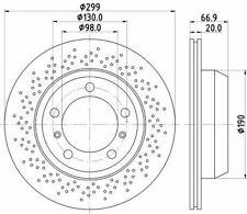 MINTEX MDC2556 BRAKE DISC Rear