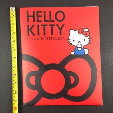 Sanrio Hello Kitty Large Folder Portfolio Acrylic Tough Wipe Clean 2 Pockets OOP