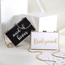 Personalized Acrylic Clutch Bride Purse Handbag Bridesmaid Bachelorette Gift