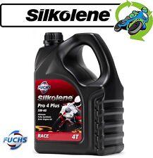 1x New Silkolene Pro 4 Plus Fully Synthetic 5W-40 High Performance Oil 4 Litre