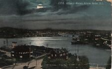 CPR Office & Wharves, Victoria Harbour, BC PPC, 1914 PMK, By Valentines