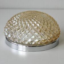 Lámpara Techo Cristal bernsteinfarbig Ø22cm CROMADO Pasillo de / APLIQUE