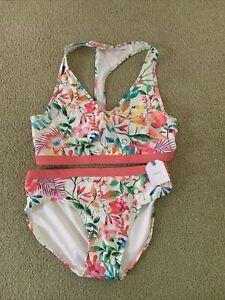 Girls Next  Floral Tropical Mix Bikini 2 Piece 15-16 Yeaes ⭐️New⭐️