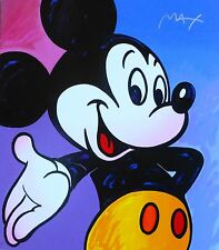 PETER MAX MICKEY MOUSE SUITE III HAND SIGNED SERIGRAPH 1995 DISNEY