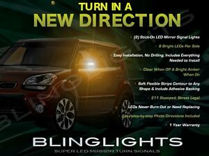 LED Side View Mirror Bright Turnsignal Lights Set for Kia Soul