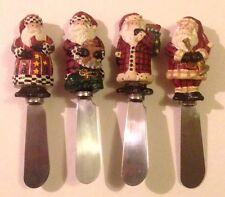 Vtg Boston Warehouse Spreaders SANTA Figures Christmas Holiday Butter Knives