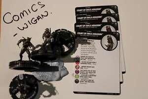 """DC HeroClix """"Joker's Wild""""#11 Court of Owls Assassin (4 figures set) - Common"""