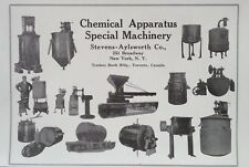 1919 AD(J17)~STEVENS-AYLSWORTH CO. NYC. CHEMICAL APPARATUS MACHINERY