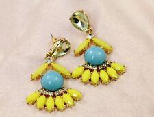 Boucles d`Oreilles Jupe Bleu Jaune Retro Ancien Style Soirée Mariage Cadeau BB 4